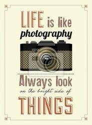 Plakat vintage old camera poster drukarski