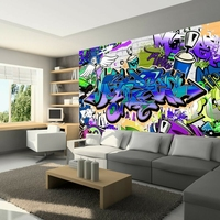 Fototapeta - graffiti: fioletowy motyw