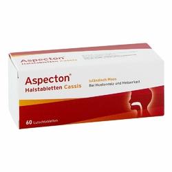 Aspecton Halstabletten Cassis tabletki na gardło i chrypkę