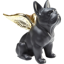 KARE Design :: Figurka Sitting Angel Dog czarno-złota