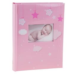 Album kieszeniowy szyty różowy Bebe 10x15 pamiątka Dedykacja
