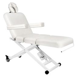 Leżanka elektr. do masażu azzurro 336b 3siln. biała