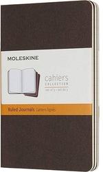 Zeszyty moleskine cahier 3 szt. p w linie kawowy