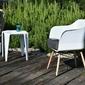 Krzesło z podłokietnikami cubis białe skandynawskie