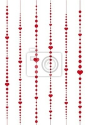 Naklejka serca i kropki, wektorowe