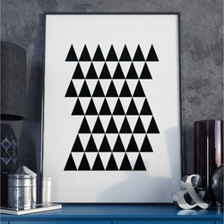 Plakat w ramie - minimalist tower , wymiary - 60cm x 90cm, ramka - biała