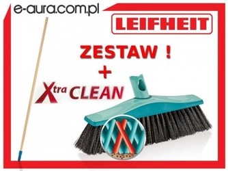 Szczotka leifheit xtra clean plus uniwersalna 40 cm 45005 z drewnianym drążkiem - system click