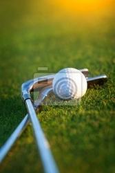 Plakat klub golfowy i piłka