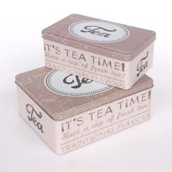 Puszki  pojemniki na herbatę, ciasteczka i produkty sypkie altom design, komplet 2 pojemników