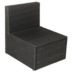 Element fotela z rattanu bez podłokietnika czarny fotel relax fotel ogrodowy