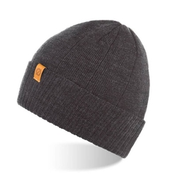 Zimowa czapka zawijana brodrene cz8 ciemnoszara