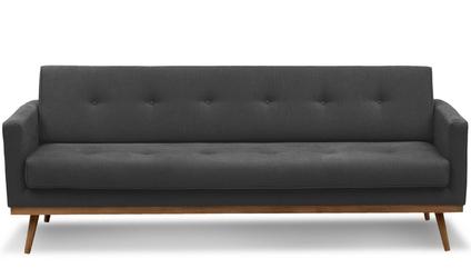 Sofa klematisar z funkcją spania 3-osobowa  antracyt