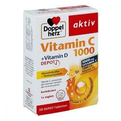 Doppelherz aktiv vitamin c 1000+vitamin d tabletki o przedłużony