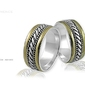 Obrączki srebrne - wzór ag-090