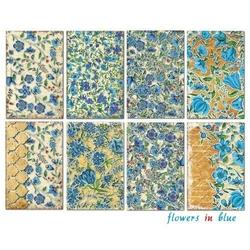 Zestaw papierów MINI 24 szt. - Flowers in blue - FLIN