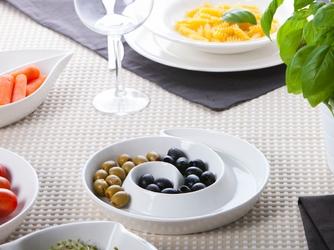 Półmisek  salaterka na przekąski porcelana altom design regular ślimak 20 cm