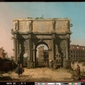widok na łuk konstantyna i koloseum  canaletto giovanni antonio canal ; obraz - reprodukcja