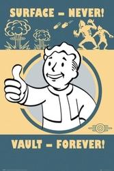 Fallout 4 - vault forever - plakat