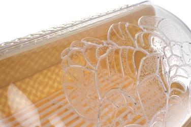 Chlebak plastikowy mały beżowy