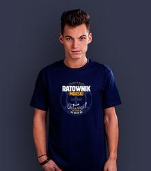 Ratownik morski t-shirt męski granatowy l