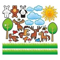 Zwierzęta 4 zestaw naklejek
