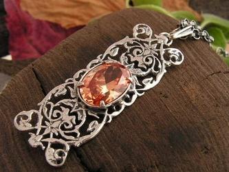 Atenea - srebrny wisiorek z topazem złocistym