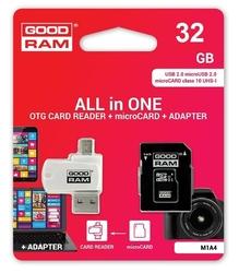 GOODRAM Karta pamięci microSDHC 32GB CL10 + Adapter + Czytnik