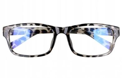 Prostokątne ala nerdy zerówki z antyrefleksem okulary st1202