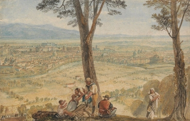 Reprodukcja rome from monte mario, william turner