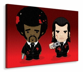 Vincent and Jules - Cartoon - Obraz na płótnie
