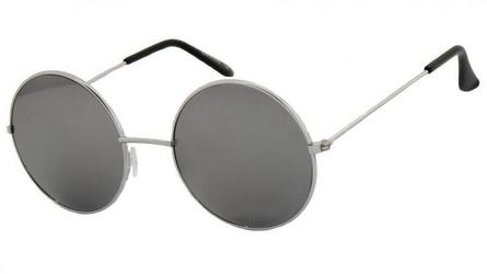 Lenonki lustrzanki srebrne hippie retro 3122d