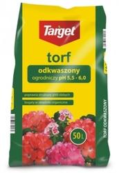 Torf ogrodniczy – odkwaszony – ph 5,0-6,5 – 48x50 l target