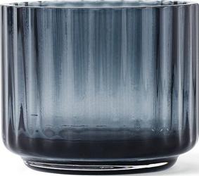 Świecznik szklany lyngby midnight blue