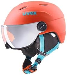 Kask narciarski uvex junior visor pro 52-54cm pomarańczowy