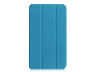 Etui book cover galaxy tab a 7.0 t280 niebieskie + szkło hartowane - niebieski