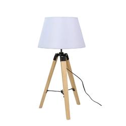 Lampa gabinetowa na trójnogu drewnianym lugano candellux 41-31136