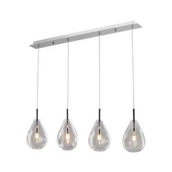 Lampa wewnętrzna wisząca bastoni srebrna