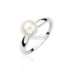 Srebrny pierścionek pr.925 z perłą