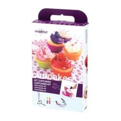 Mastrad - zestaw do muffinek i cupcakeów z broszurą z przepisami