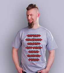 Życie po ślubie t-shirt męski jasny melanż xxl