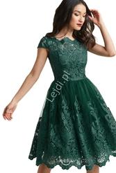 Zielona sukienka z koronki 364