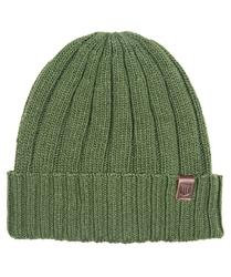 Ciepła czapka profuomo w kolorze oliwkowym