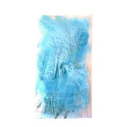 Dekoracyjne piórka - błękitny - BŁĘ
