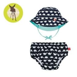 Zestaw plażowy majtki z pieluszką+kapelusz splashfun uv 50+ - viking 18mc