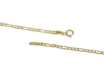 Złota bransoletka łańcuszek z blaszką pr. 585 prezent na chrzest roczek grawer niebieska kokardka - białe z niebieską kokardką