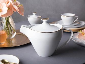 Imbryk  czajnik do herbaty  do kawy porcelana mariapaula moderna gold 1 l ze złotym zdobieniem