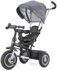 Toyz buzz grey rowerek trzykołowy z obracanym siedziskiem + prezent 3d