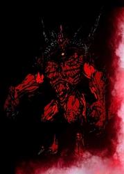 Blizzardverse stencils - diablo, the lord of terror, diablo - plakat wymiar do wyboru: 60x80 cm