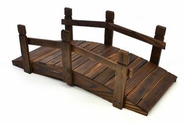 Kładka drewniana mostek drewniany pomost 70x30x25 cm