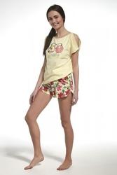Piżama dziewczęca cornette famp;y girl 27832 waikiki żółty